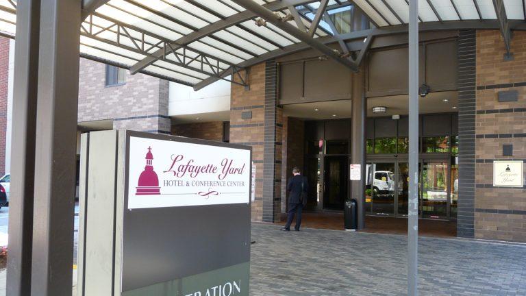 Lafayette Yard was formerly a Marriott hotel. (Alan Tu/WHYY)