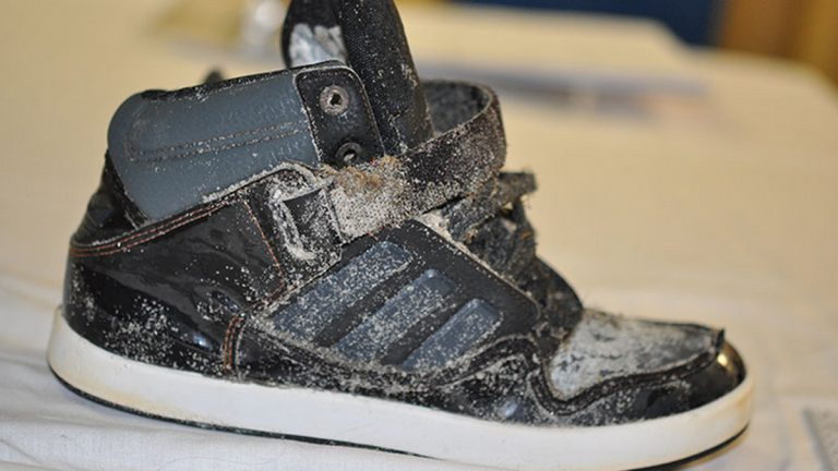 The shoe found by a fisherman at Ocean City's Corson's Inlet State Park in August. (Photo: New Jersey State Police)