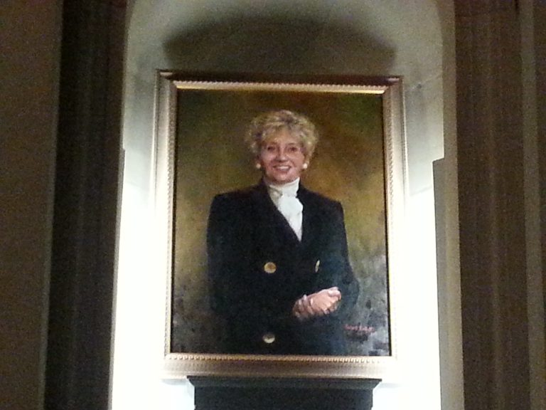 Former Council President Anna Verna oil painting by Robert Coletti (Tom MacDonald/WHYY)