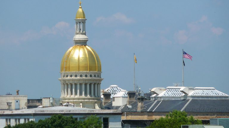 Golden dome of the State Capitol in Trenton (Alan Tu/WHYY)