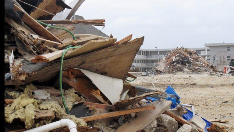 Debris left from Superstorm Sandy. (AP File Photo/Wayne Parry)