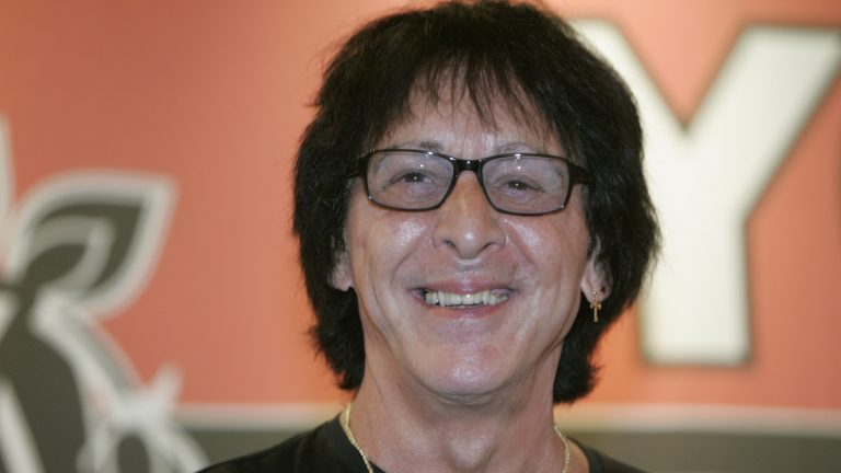 FILE - In this July 24, 2007 file photo, Peter Criss, founding member of rock group KISS, smiles during an autograph signing for the release of his solo album entitled