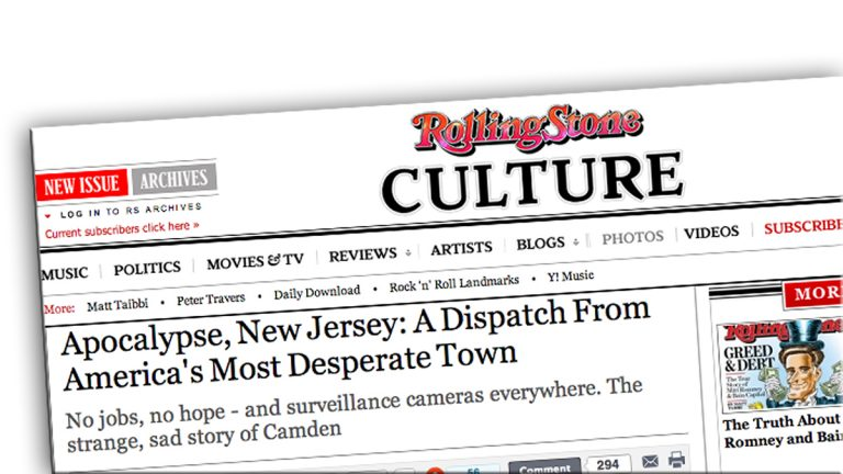 This Rolling Stone article is not sitting well with some Camden residents.