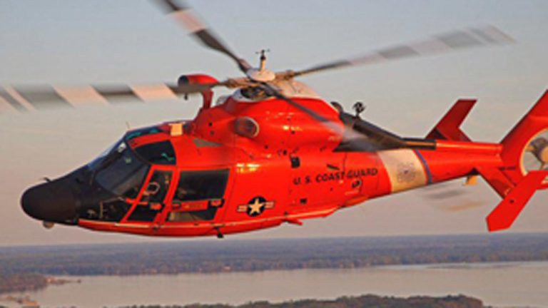 The Coast Guard used its workhorse the  H-65 helicopter during today's rescuse. (Coast Guard File photo)