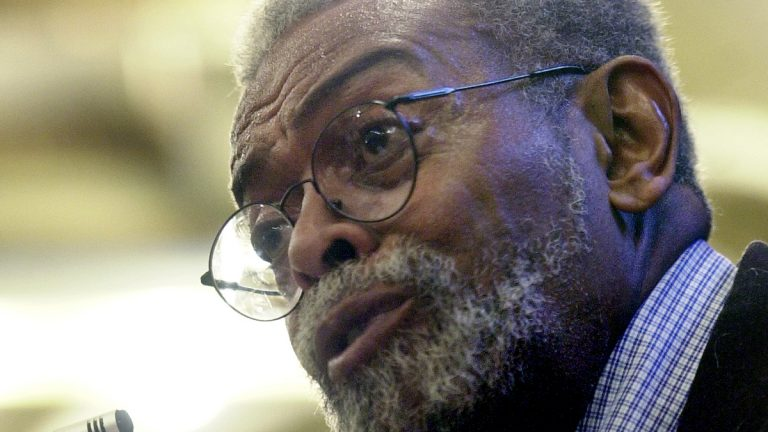 Some may remember Amiri Baraka as the New Jersey's poet laureate that Gov McGreevey tried to oust. (AP Photo/Mike Derer)
