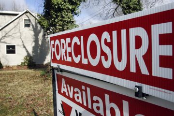 A foreclosure sign (Mel Evans/AP Photo)