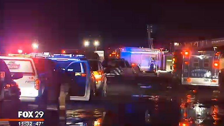 Emergency crews last night off of Sooey Place Rd in Tabernacle. (Image screenshot via Fox29)