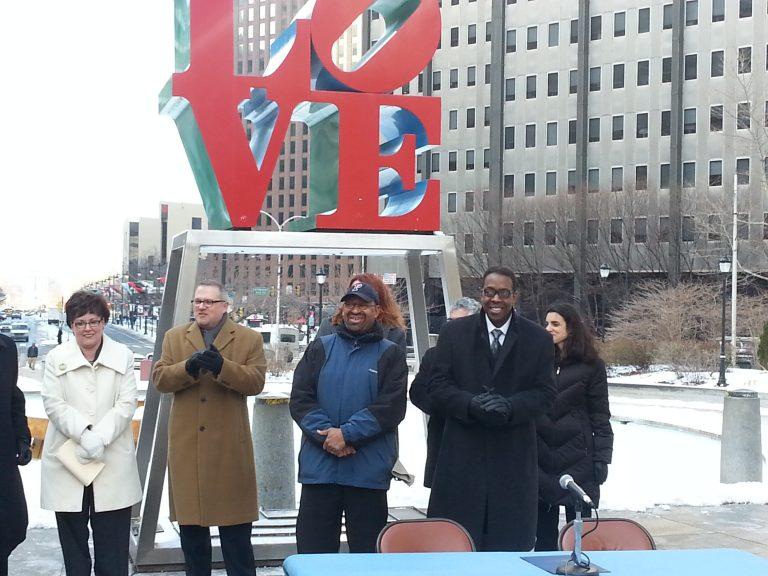 Mayor Nutter, Council President Clarke reach compromise on Love Park.