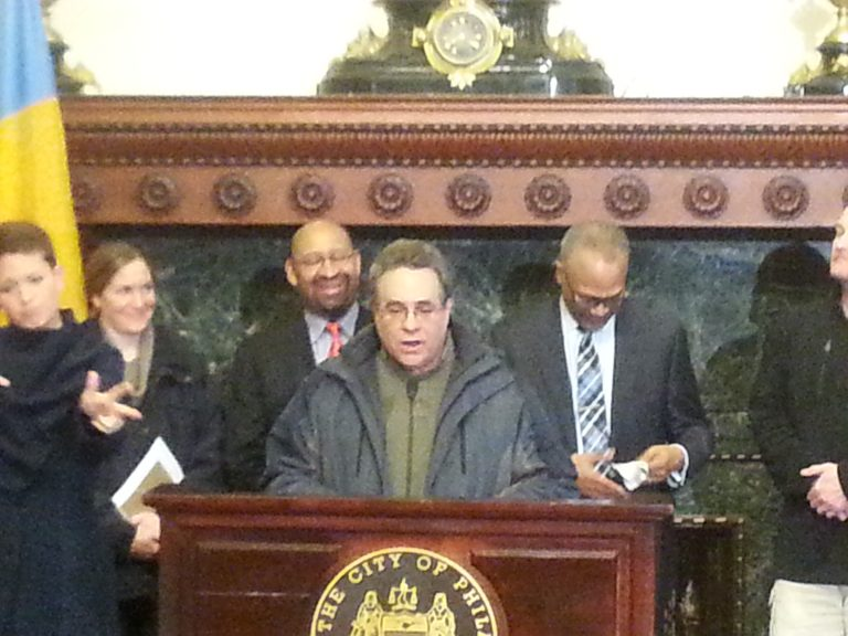 David Perri, Philadelphia streets commissioner, gives an update on snow-clearing operations.