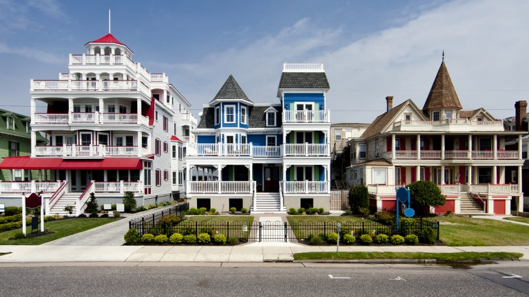 Some of Cape May's most beautiful homes are on Beach Ave. facing the Atlantic Ocean. (<a href=