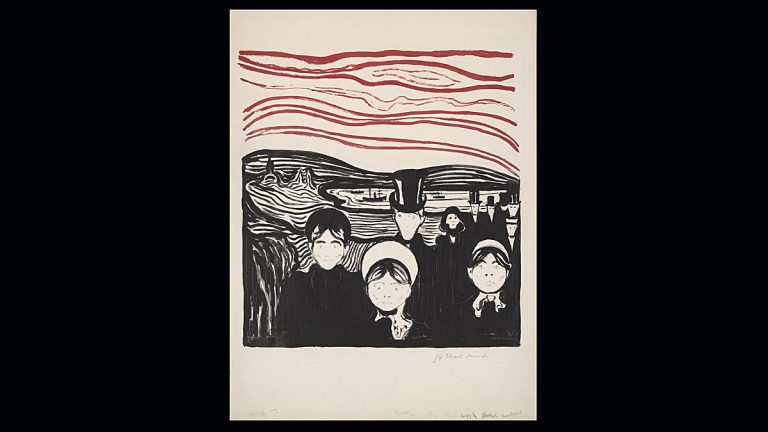 Edvard Munch, Anxiety, 1896. Lithograph