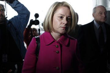 Christie's former Deputy Chief of Staff Bridget Kelly arriving this morning for her court hearing in Trenton. (Mel Evans/AP Photo)
