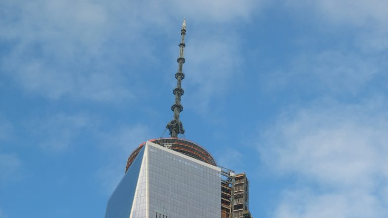 The teen was able to reach the top of WTC to snap a photo. (Alan Tu/WHYY)
