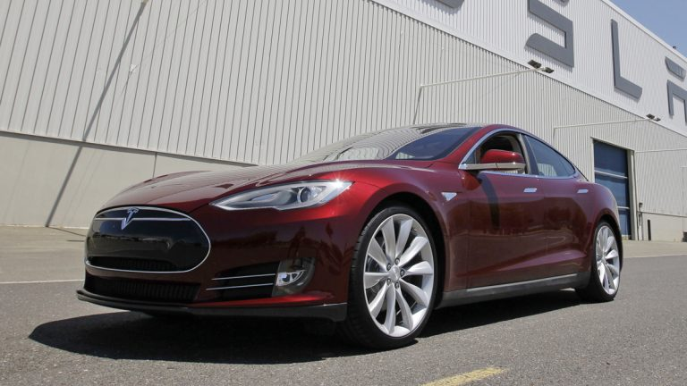 A Tesla Model S outside the Tesla factory in Fremont, Calif. (AP Photo/Paul Sakuma, File)