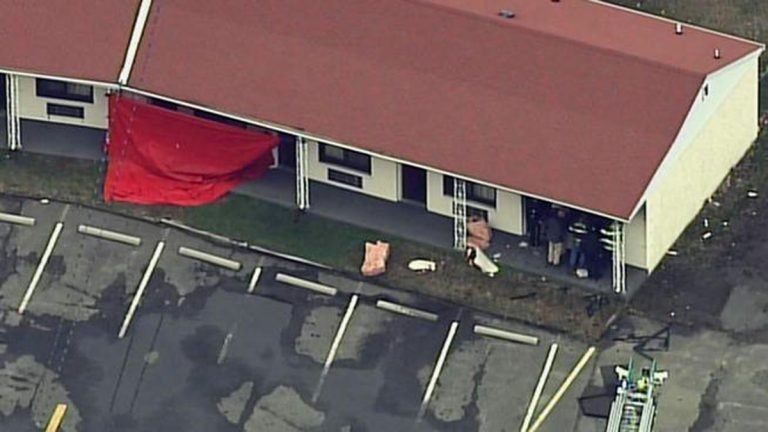 Aerial view of the Travel Inn in Lumberton, N.J. (Image by NBC10)