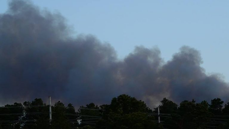 Yesterday Shawn Wainwright posted this photo to JSHN saying this was the view over the woods behind Silver Ridge apartments in Toms River.