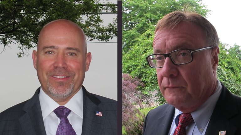 Tom MacArthur (left), Steve Lonegan (right) are running for the Republican nomination for the 3rd Congressional District in N.J. (Phil Gregory/WHYY)