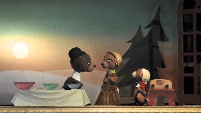 A scene from Goldilocks and the Three Bears