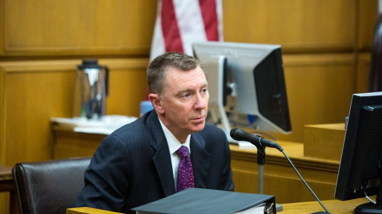 John Deasy, superintendent of the Los Angeles schools testifies Jan. 27 on the opening day of Vergara v. The State of California.(AP Photo/Monica Almeida, Pool)