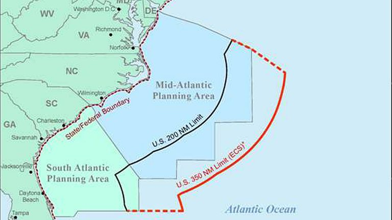 Seismic testing is used to locate underwater gas and oil deposits.
