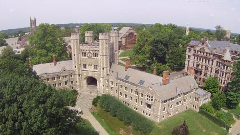 Princeton University's Blair Tower photographed from above (Alan Tu/WHYY)