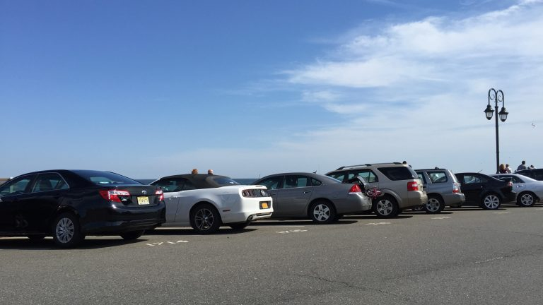 Parking can be a premium near New Jersey's beaches. Belmar
