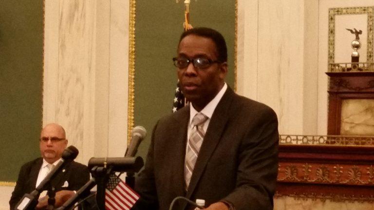 Council President Darrell Clarke gives legislative update.