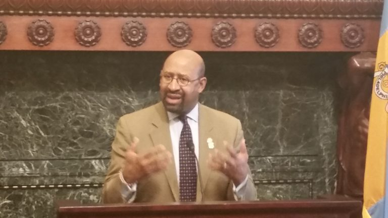 Mayor Nutter says they aren't too proud to beg for summer jobs (Tom MacDOnald/WHYY)