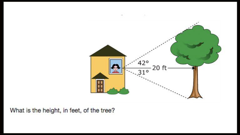 PARCC online practice geometry question
