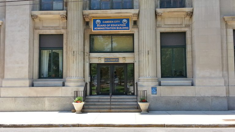 Camden Board of Education building. (Alan Tu/WHYY)