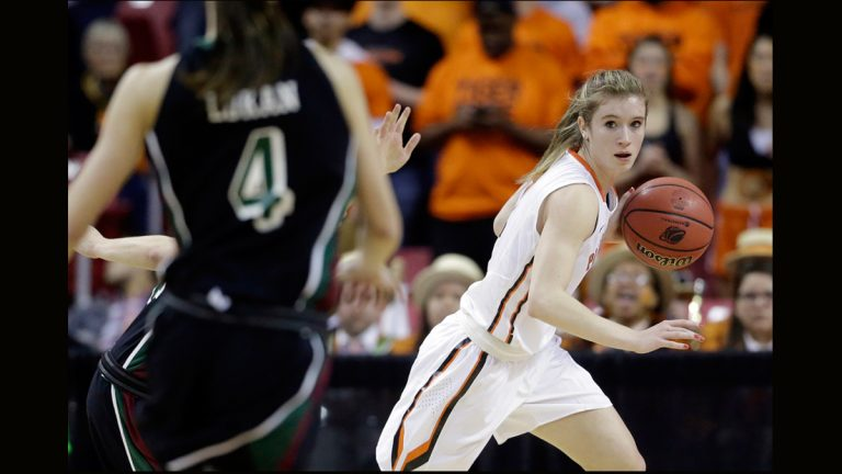 Princeton guard Blake Dietrick drives the ball in the first half of an NCAA college basketball game against Green Bay in the first round of the NCAA tournament, Saturday, March 21, 2015, in College Park, Md. (AP Photo/Patrick Semansky)