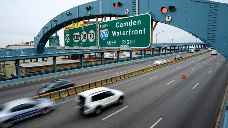 The Ben Franklin Bridge connects Philadelphia to Camden and the rest of South Jersey. (Bas Slabbers/for NewsWorks)