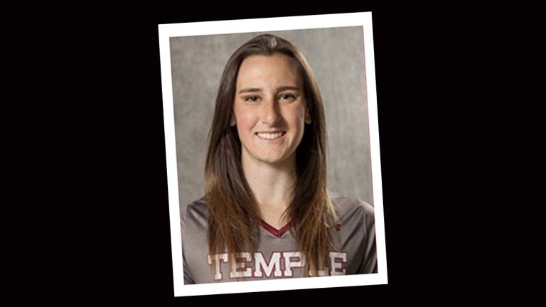 Rachel Hall of Mullica Hill, N.J. is a member of Temple University's Lacrosse Team. (Photo from Temple.edu)