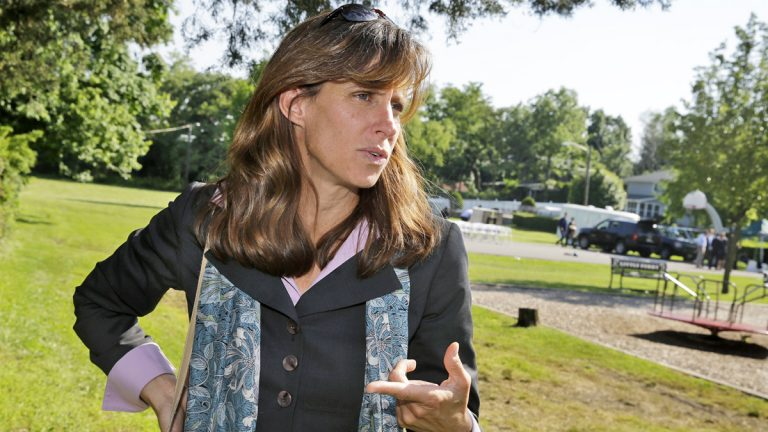 Hoboken Mayor Dawn Zimmer from a 2009 file photo. (AP Photo/Mel Evans)
