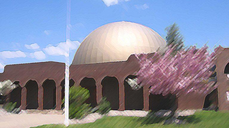Stylized photo of St. George's Greek Orthodox Church in Hamilton, N.J.