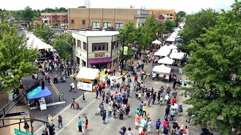 Crowds at a recent May Fair in Collingswood, N.J.