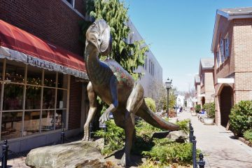 Haddonfield is where the world's first nearly-complete skeleton of a dinosaur was found in 1858. (Shutterstock)