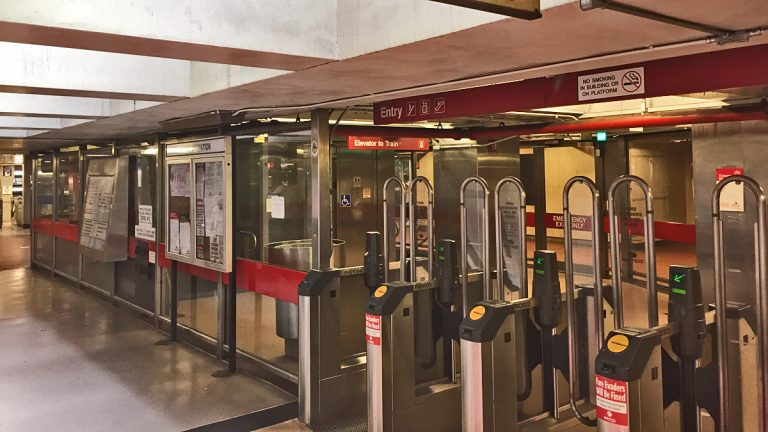 PATCO's station at 8th and Market Streets. (Alan Tu/WHYY, file)