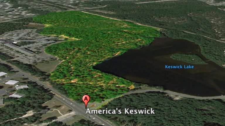 April Lewis was staying at America's Keswick in Manchester, NJ. Media reports say she was found in the highlighted area.