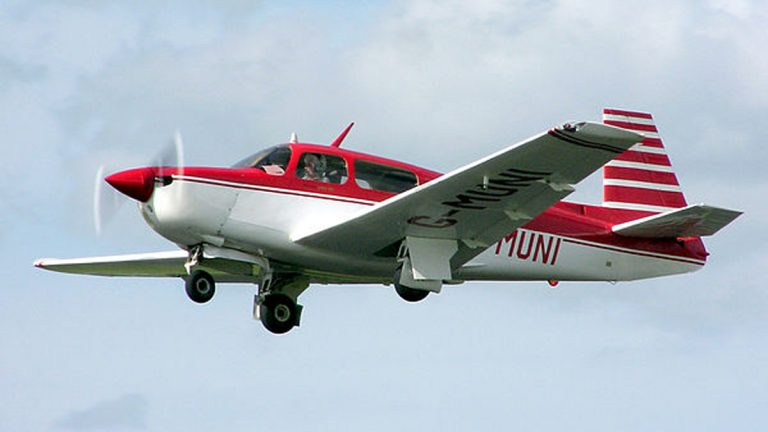 File photo of a Mooney M20. (Wikimedia Commons/Adrian Pingstone)