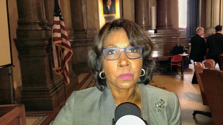 City Councilwoman Blondell Reynolds Brown has launched the first step toward changing a civil service rule she says has stifled diversity among Philadelphia workers. (Tom MacDonald/WHYY)