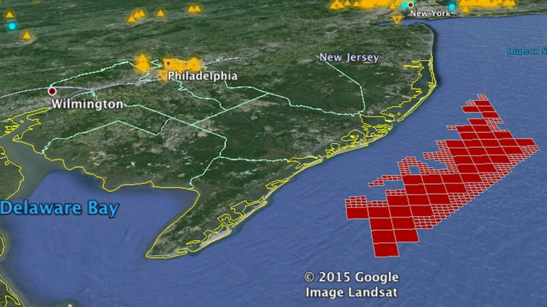 Map of the New Jersey Lease Areas (Image courtesy of Bureau of Ocean Energy Management)