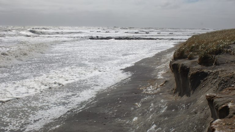 Hurricane Joaquin, which did not hit NJ, did cause extensive beach erosion in places like Ocean City, NJ. (Alan Tu/WHYY)