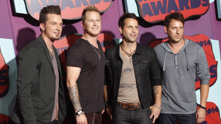Josh McSwain, and from left, Scott Thomas, Barry Knox and Matt Thomas of Parmalee at the CMT Music Awards, June 4, 2014. (Photo by Wade Payne/Invision/AP)