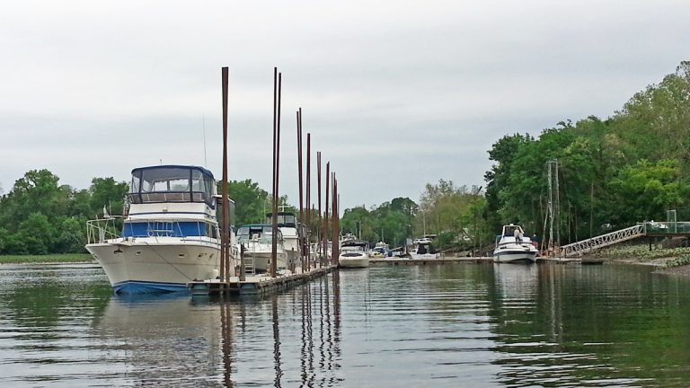 RiverFest will be held next to the Yacht Club where Crosswicks Creek meets the Delaware River.  (Alan Tu/WHYY)