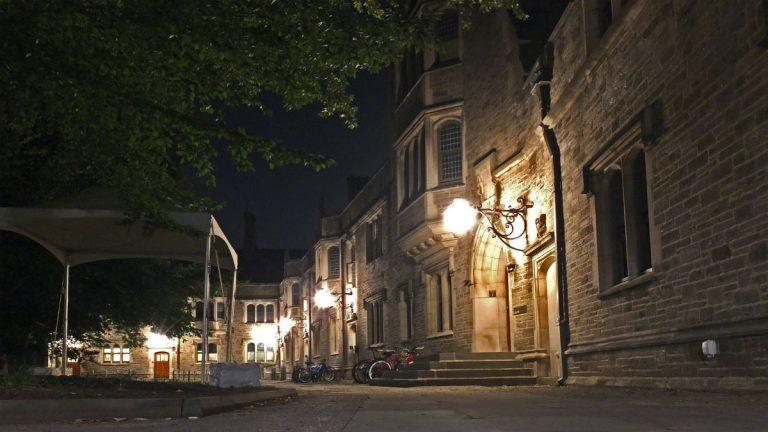 File photo of Princeton University's campus at night. (Alan Tu/WHYY)