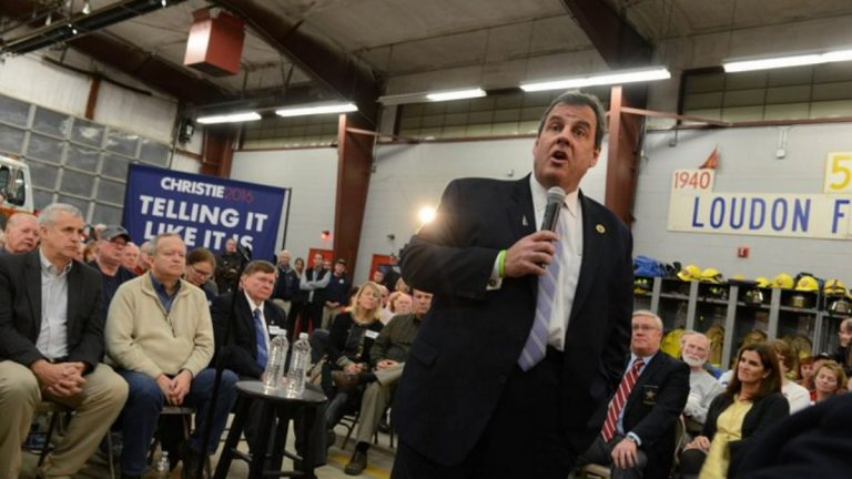 Chris Christie at a town hall event in Loudon, New Hampshire on Nov. 30, 2015(Photo courtesy of Matt Katz)
