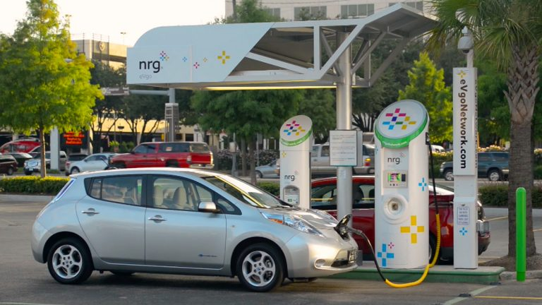 One of NRG's specialties is electric car charging stations. (Photo courtesy of NRG)