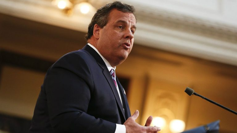 New Jersey Gov. Chris Christie delivers his budget address for fiscal year 2015 to the Legislature, February 25, 2014 at the Statehouse in Trenton, New Jersey.(Jeff Zelevansky / Getty)