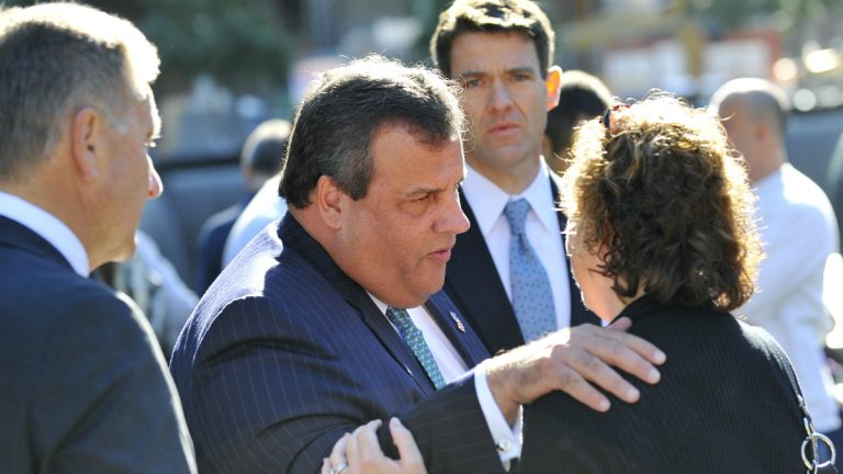 Gov Chris Christie at the WTC Memorial site on  Sept. 11, 2012. Before becoming governor of New Jersey, Christie served as U.S. Attorney in New Jersey. (AP Photo/Justin Lane, Pool)